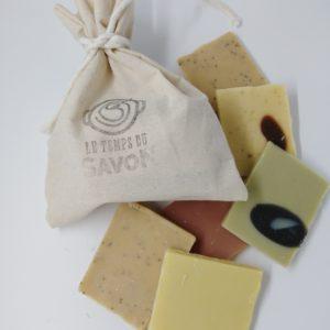 sac coton et chutes de savon